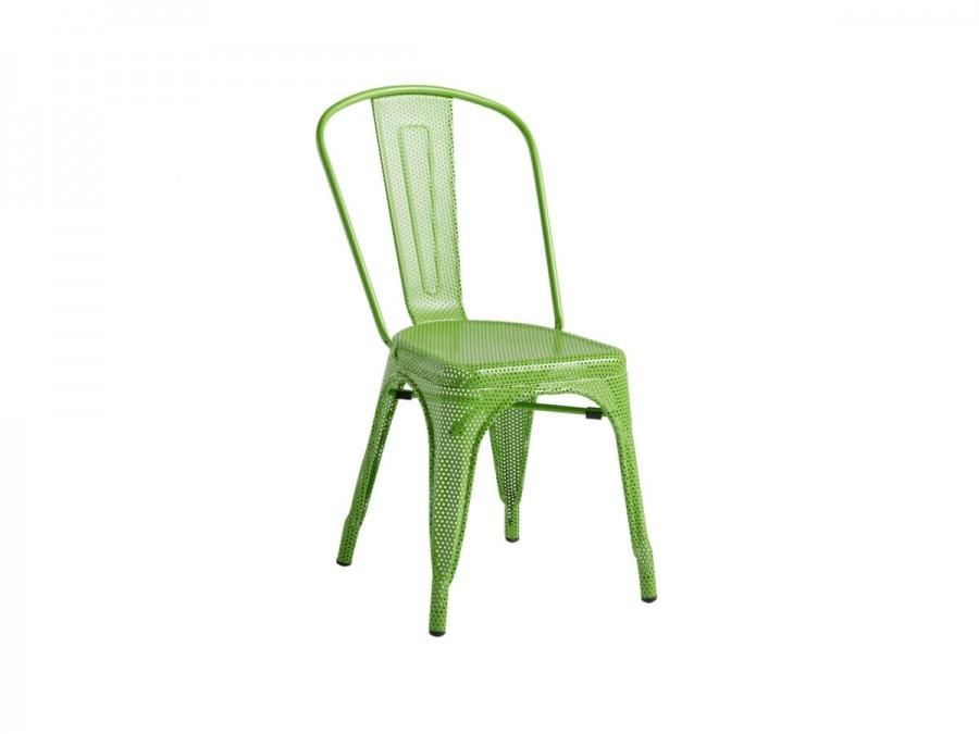 Mesh Tolix Chair. Green