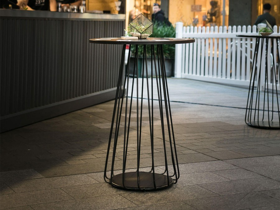 Wire Cocktail Table Hire